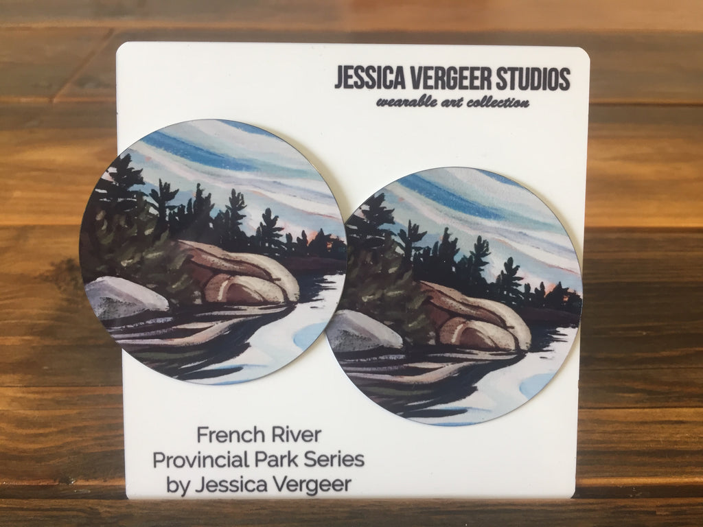 French River Provincial Park Series 2-inch Earrings