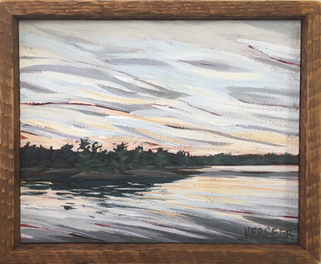 Georgian Bay Sunset 8x10 Framed Painting
