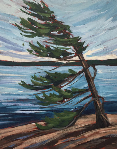 Harold Point Windswept Pine Painting Class, Wednesday September 19, 6-8pm