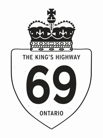 Highway 69 Sign Poster