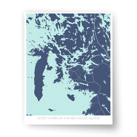 Honey Harbour and Beausoleil Island Art Map