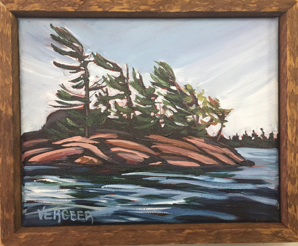 Honey Harbour Island 8x10 Framed Painting