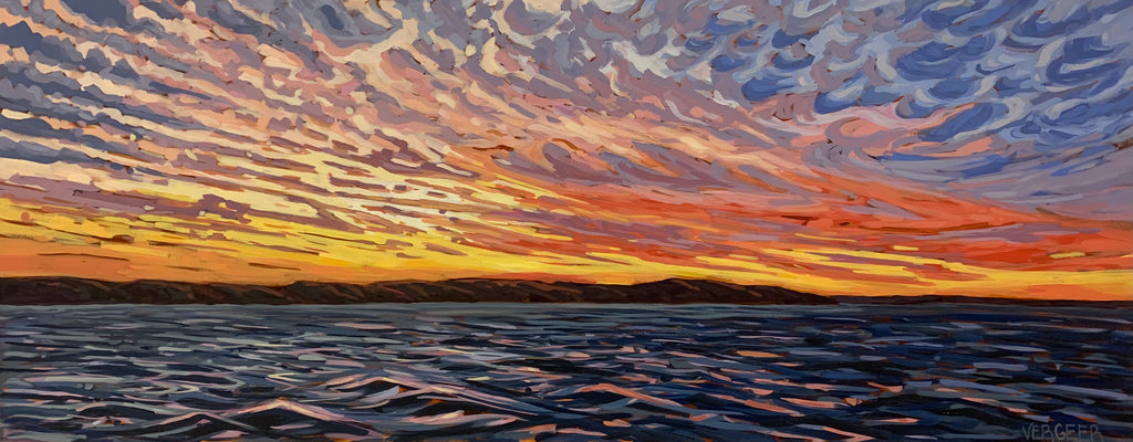 Salt Dock Sunset - 24x60