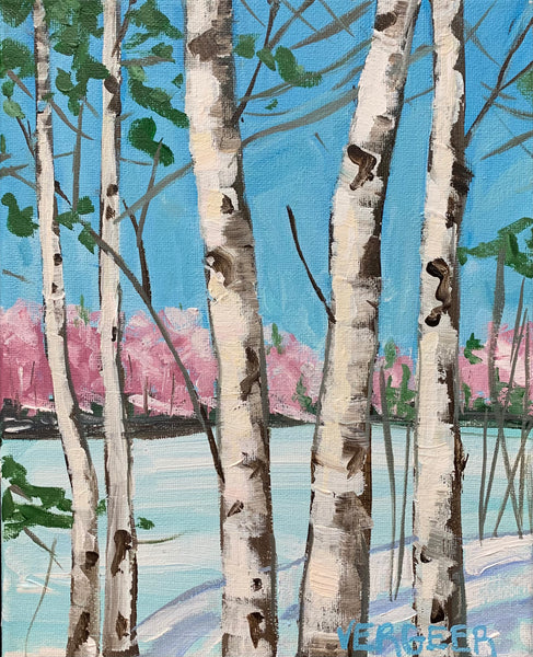 Winter Birches - 8x10