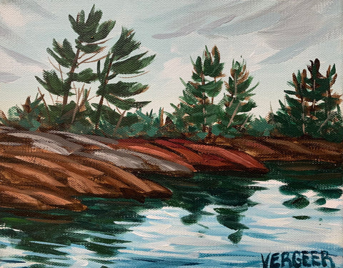 French River Provincial Park Shoreline - 8x10