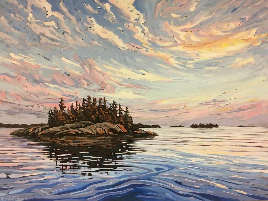 Sunset Near Surprise Island 1 - 36x48