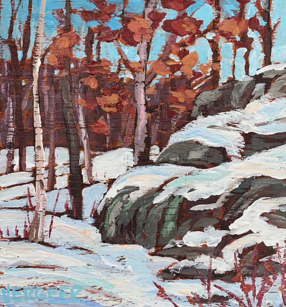 Winter Woods Miniature Painting