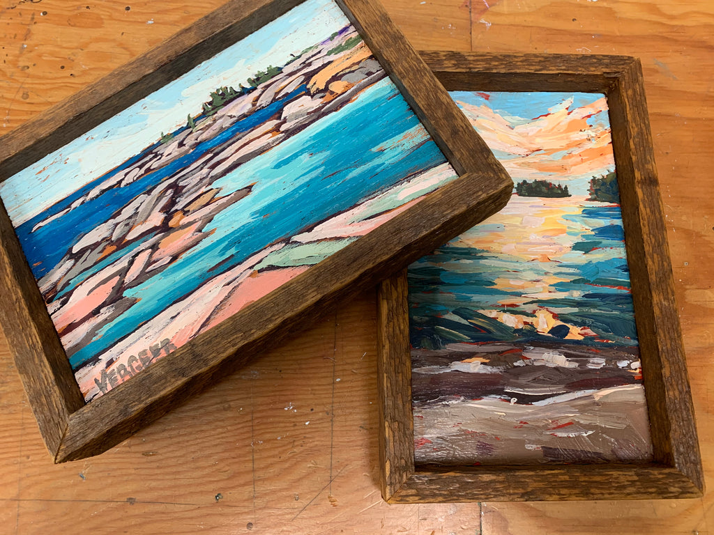 3 mini paintings plus shipping