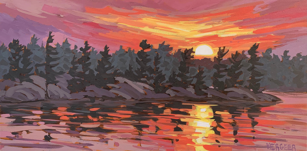 Healey Lake Sunset - 12x24