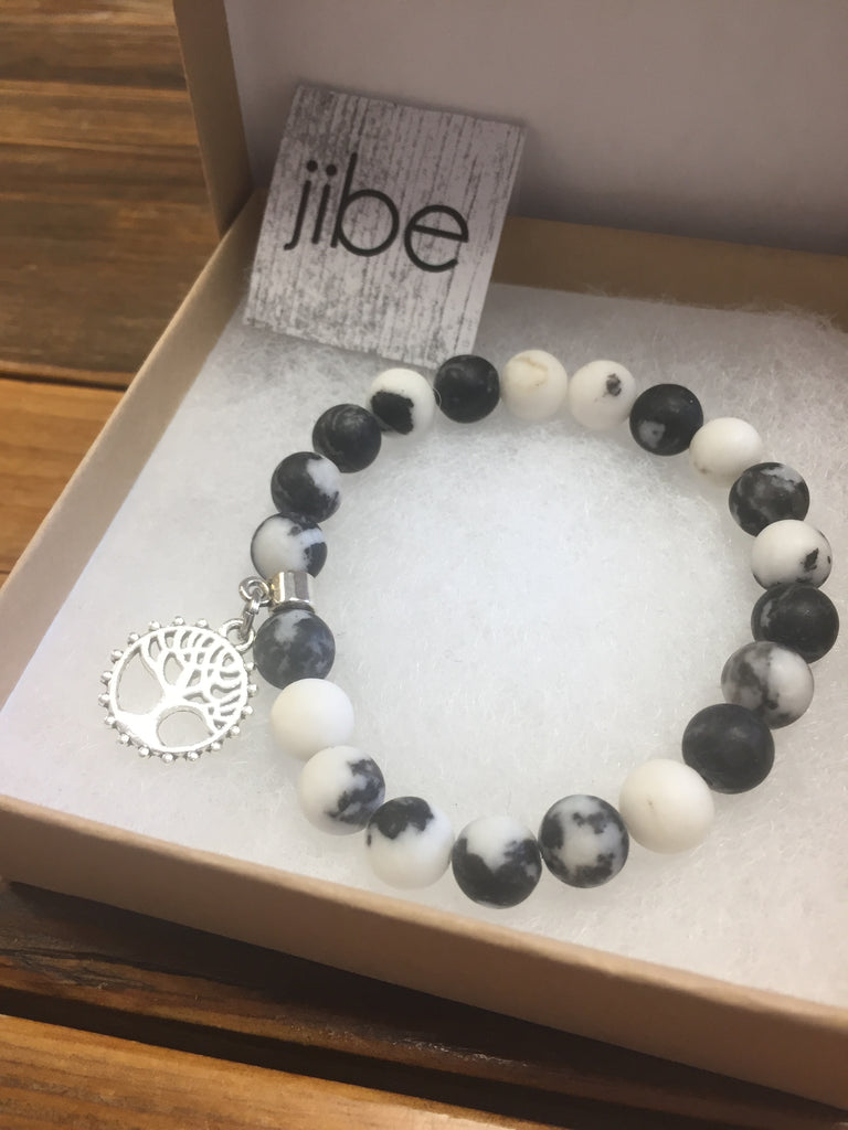 Jibe Jewellery Stone Bracelet with Tree of Life Charm
