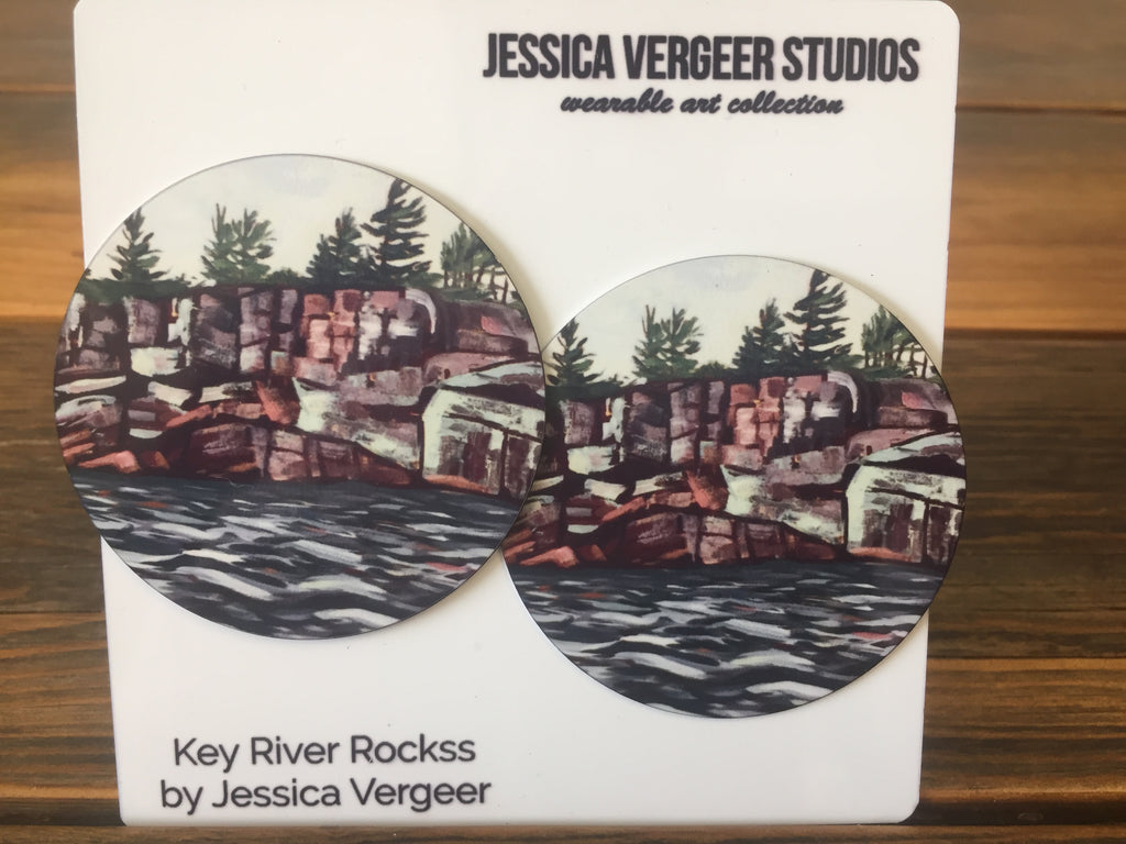 Key River Rocks 2-inch Earrings
