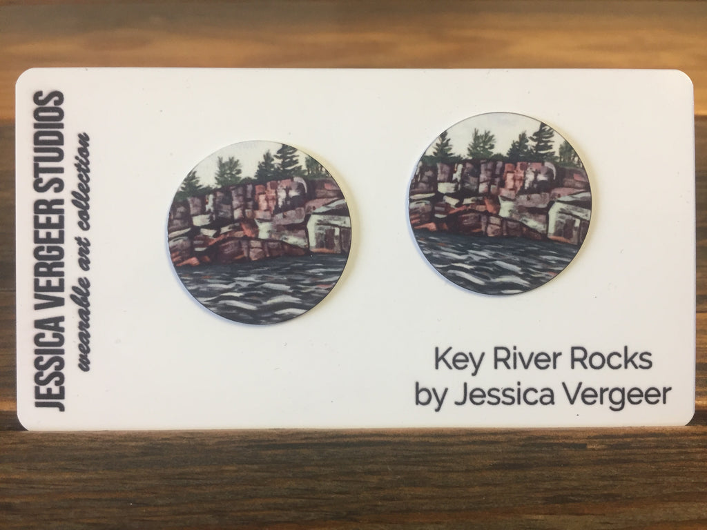 Key River Rocks 1-inch Earrings