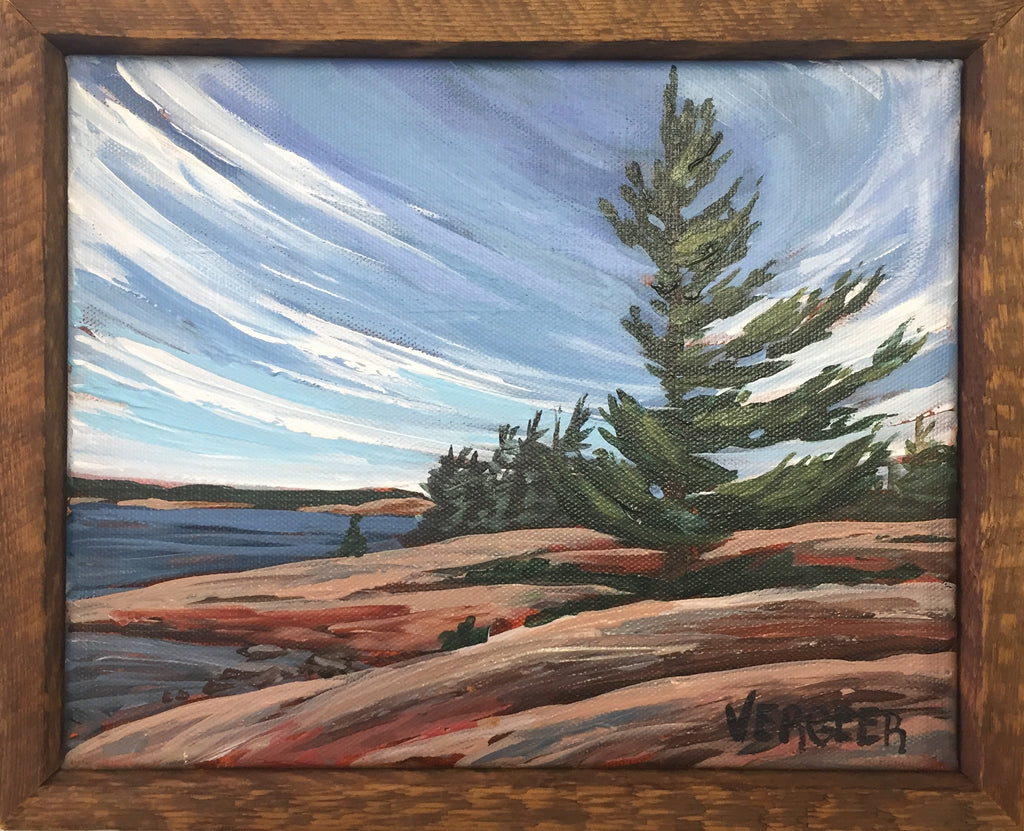 Killbear Provincial Park Shoreline 8x10 Framed Painting