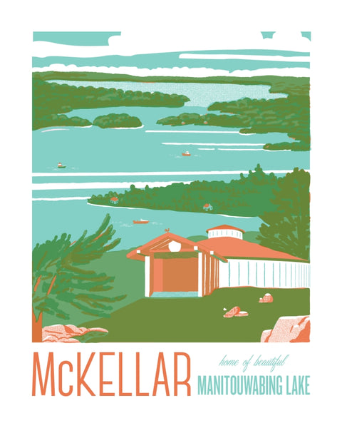 McKellar and Manitouwabing Lake Poster