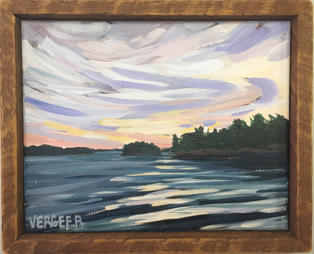 Near Lighthouse Point 8x10 Framed Painting