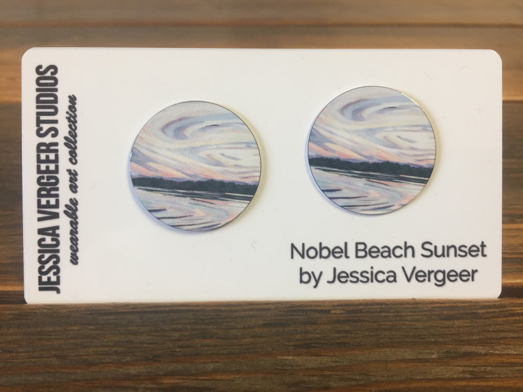 Nobel Beach Sunset 1-inch Earrings