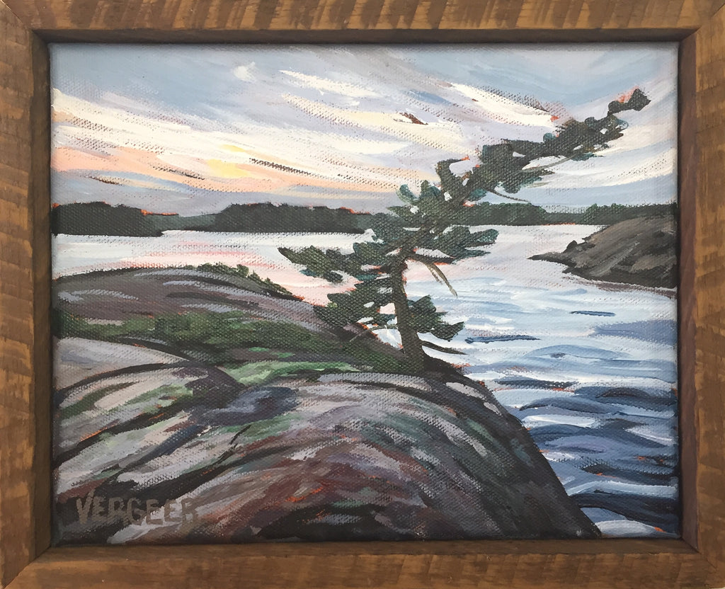Passage Island Windswept Pine 8x10 Framed Painting
