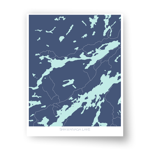 Shawanaga Lake Art Map