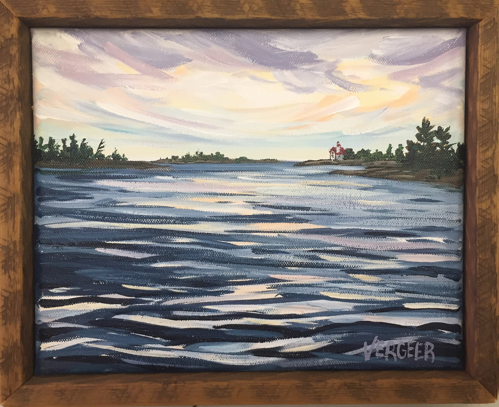 Snug Harbour 8x10 Framed Painting
