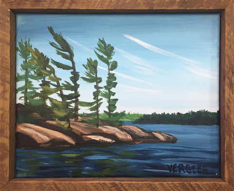 South Channel Island 1 8x10 Framed Painting