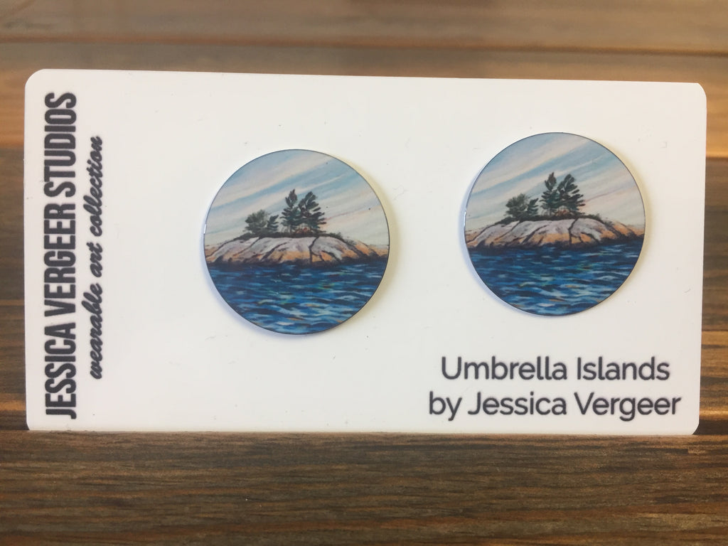Umbrella Island 1-inch Earrings
