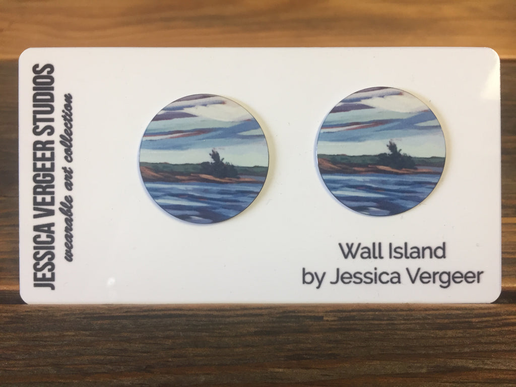 Wall Island 1-inch Earrings