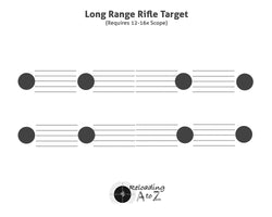 Long Range Rifle Target - Horizontal