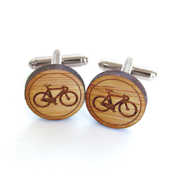 Bamboo Wood Cufflinks