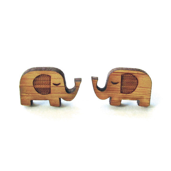 Bamboo Wood Hypoallergenic Earrings
