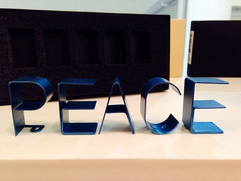 Metal Word Set - PEACE