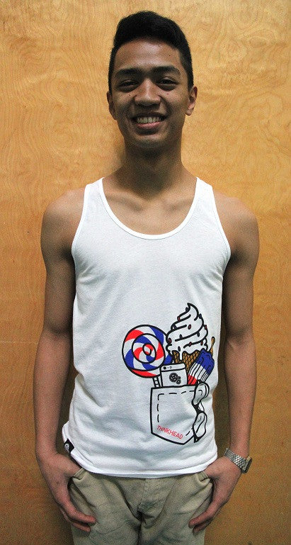 Round Neck Cotton Cartoon Tank Top