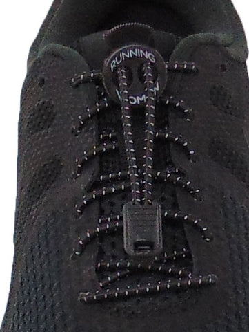 Black Reflective FastenFlex Laces