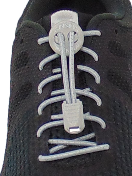 Grey Reflective FastenFlex Laces