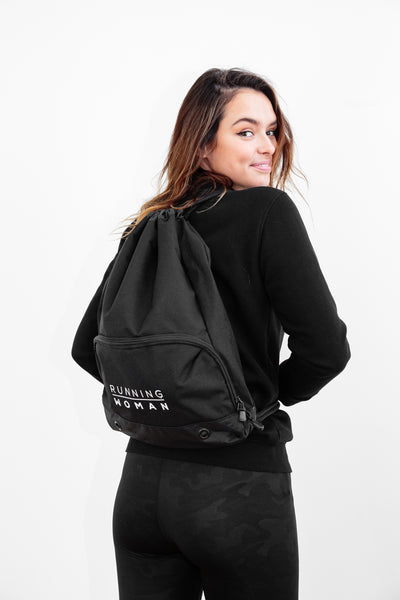 Running Woman Black Gym Sack