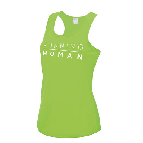 Exclusive green Running Woman Vest