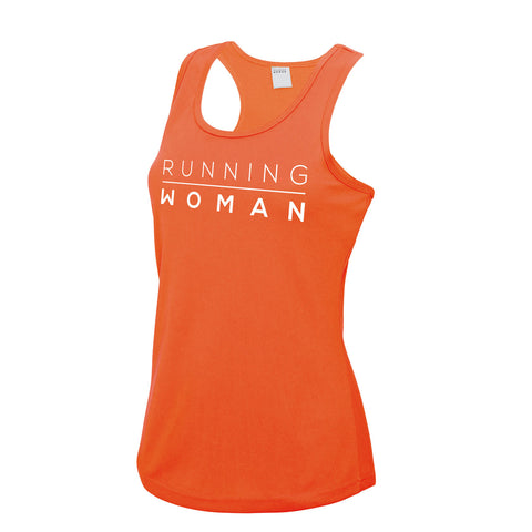 Exclusive orange Running Woman Vest