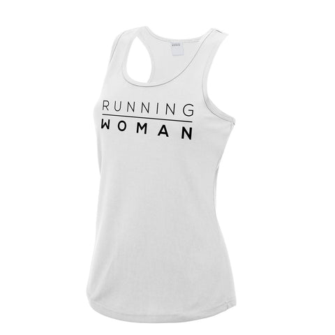 Exclusive white Running Woman Vest