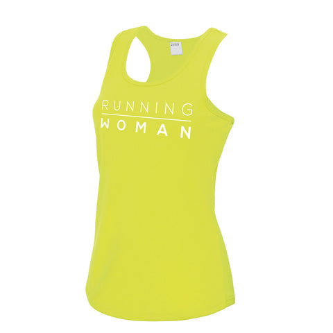 Exclusive yellow Running Woman Vest