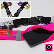 Exclusive Pink Twin Pocket Running Belt with Gel Loops