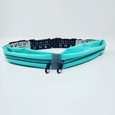 Exclusive Turquoise Twin Pocket Running Belt with Gel Loops