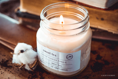 Sweet Tea | Mason Jar Hand Poured Candle | Ruby's Rubbish®