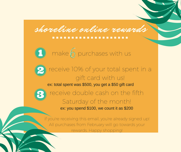 Shoreline Sugars Boutique Loyalty Program