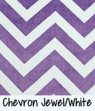 Chevron Jewel/White
