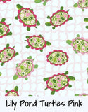 Lily Pond Turtles Pink