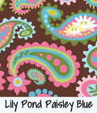 Lily Pond Paisley Blue