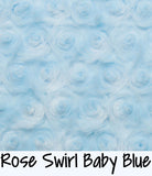 Rose Swirl  Baby Blue