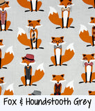 Fox & Houndstooth Grey