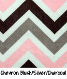 Chevron Blush/Silver/Charcoal