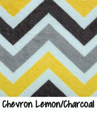 Chevron Lemon/Charcoal
