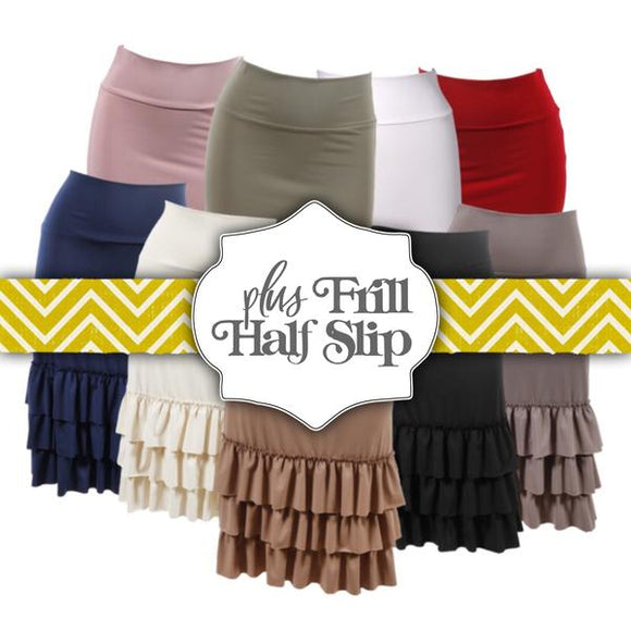 920d31f1d38 Bring On The Frill Layering Skirt Extender Plus Size